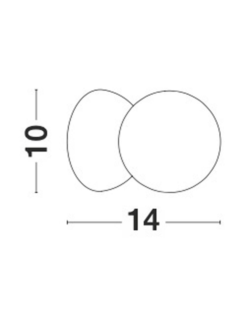 Applique in cemento vetro opale Zero, Paralume: vetro opale, Grigio, bianco, Ø 10 x Prof. 14 cm