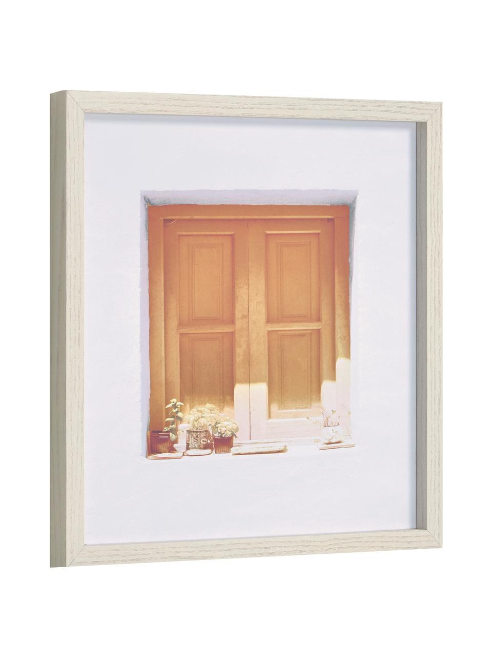 Impression numérique encadrée Leyla Window, Tons bruns, blanc