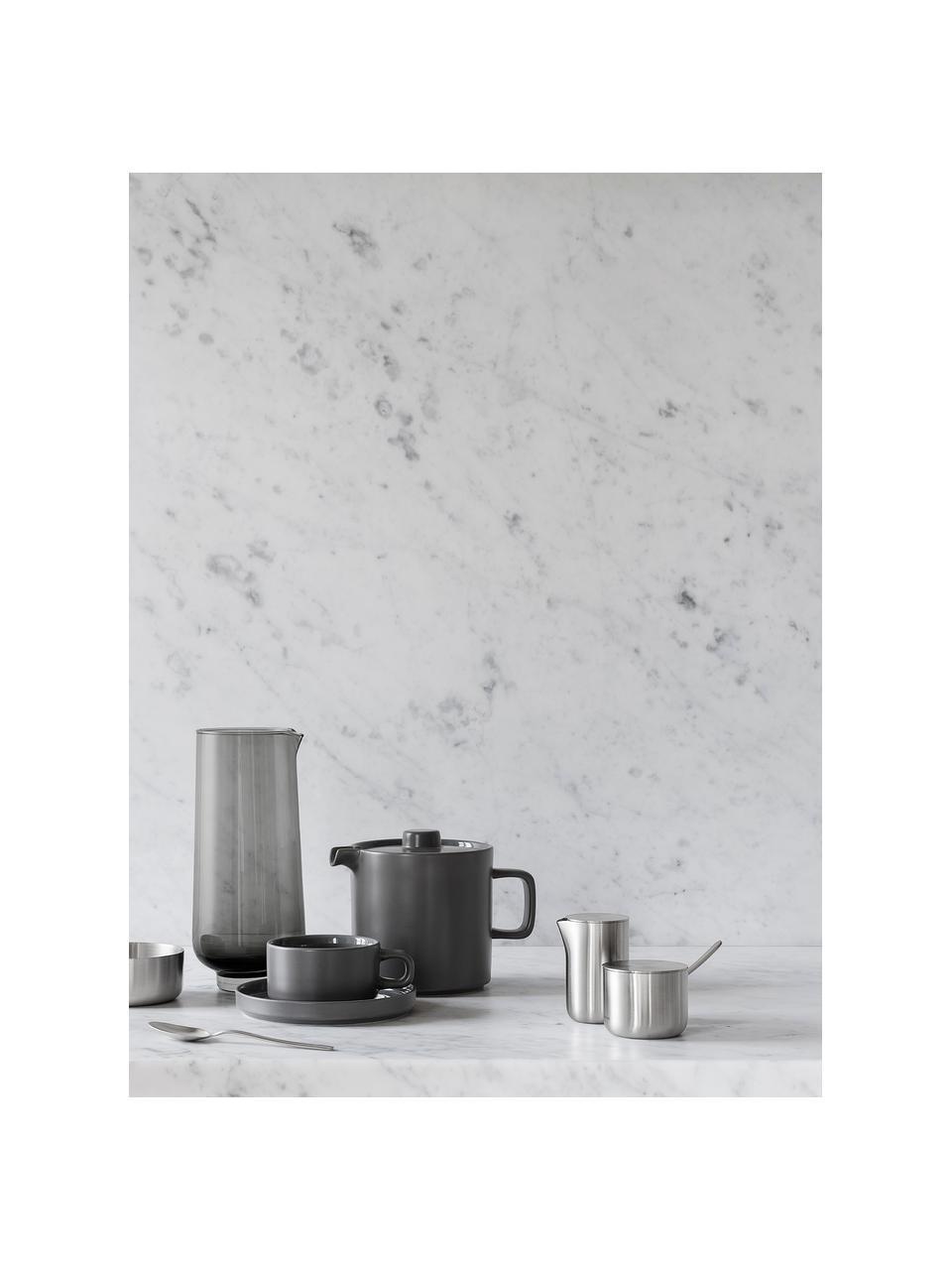 Tasse gris foncé mat/brillant Pilar, 2 pièces, Gris foncé