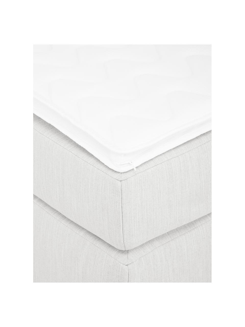 Łóżko kontynentalne bez zagłówka Enya, Nogi: tworzywo sztuczne, Jasny szary, S 200 x D 200 cm