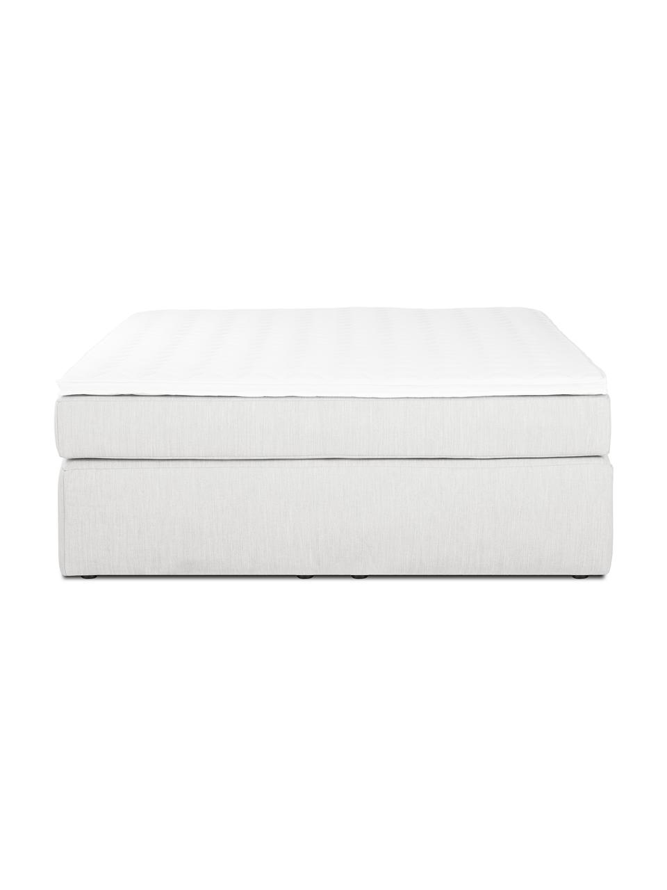 Łóżko kontynentalne bez zagłówka Aries, Nogi: tworzywo sztuczne, Jasny szary, S 200 x D 200 cm