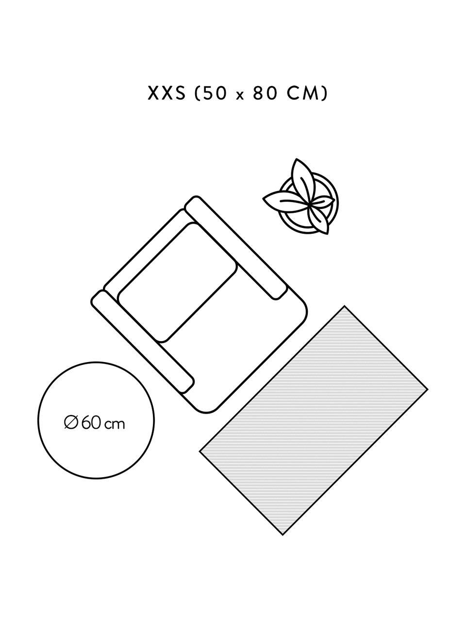 Handgeweven katoenen vloerkleed Jasmine in beige/taupe in vintage stijl, Beige, B 50 x L 80 cm (maat XXS)