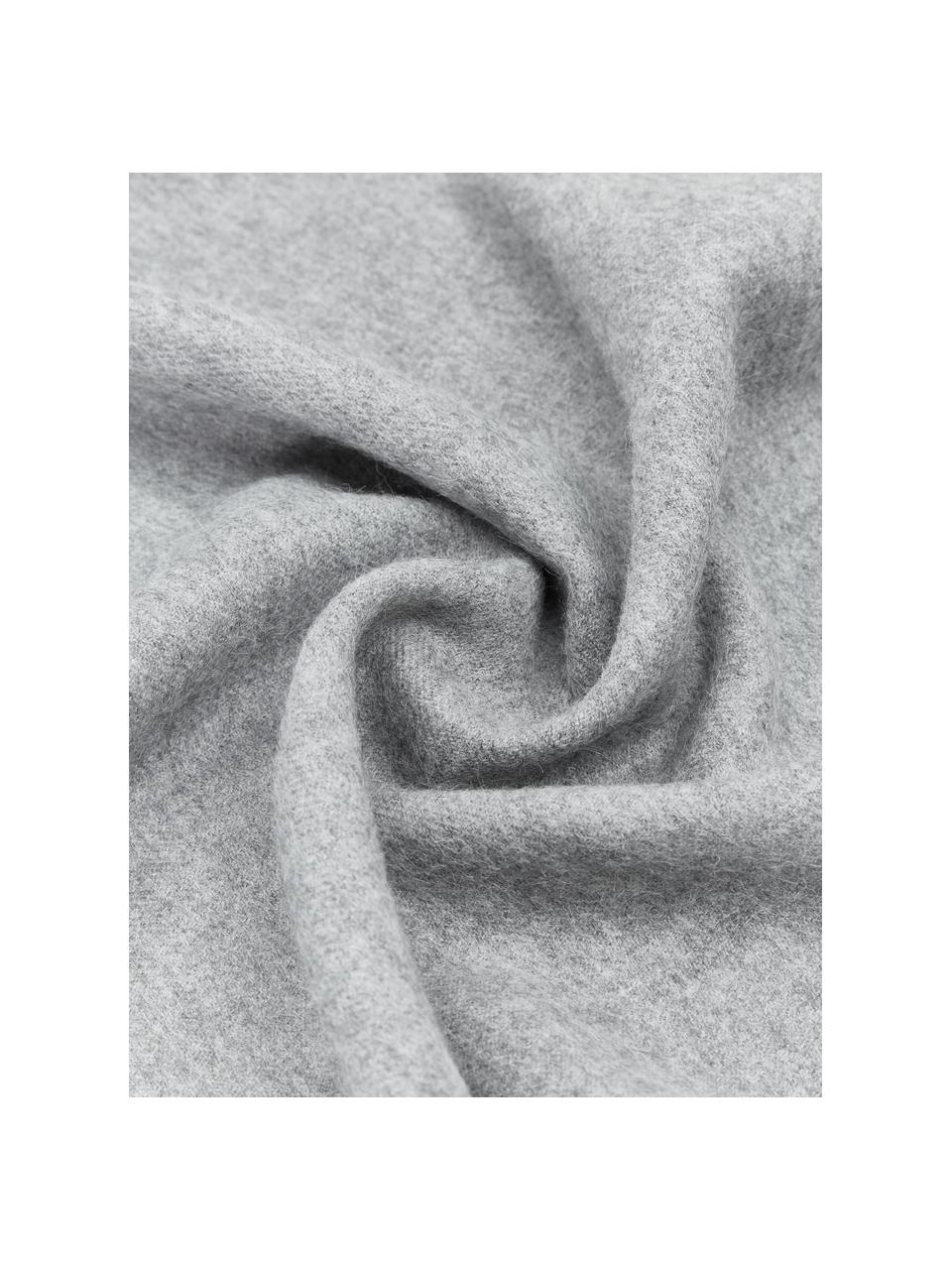 Lekki koc z wełny z młodych alpak Luxury, Szary, S 130 cm x D 200