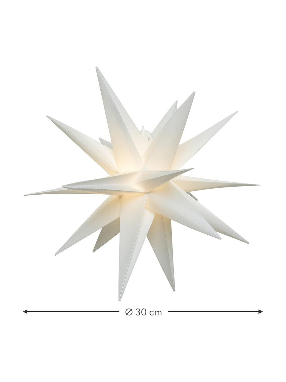 Batteriebetriebener LED Leuchtstern Zing Ø 30 cm, Weiß, Ø 30 cm