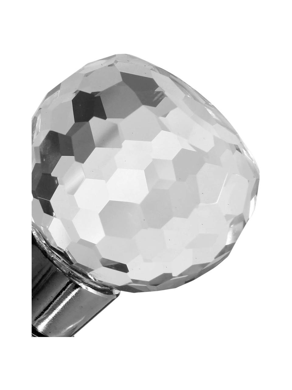 Komplet korków do butelek Facettes, 3 elem., Stal szlachetna, szkło, Stal, transparentny, Ø 4 x W 10 cm