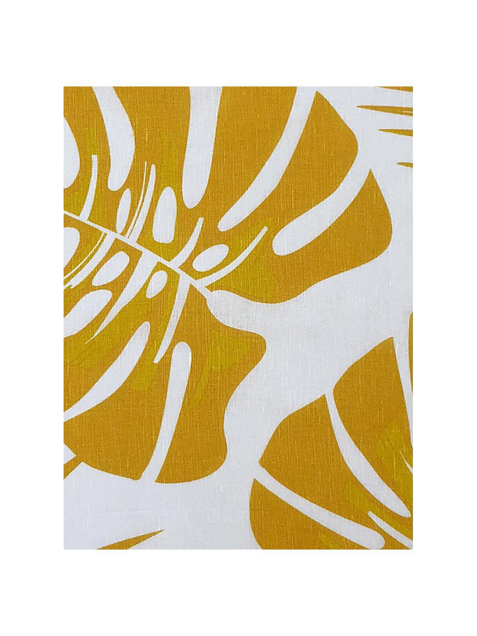 Halbleinen-Geschirrtücher Urban Jungle, 2 Stück, 50% Leinen, 50% Baumwolle, Weiß, Gelb, 50 x 70 cm