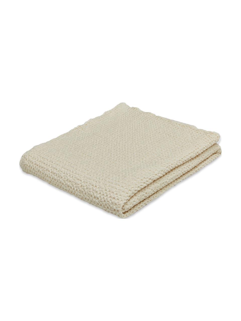 Bedsprei Vigo met gestructureerde oppervlak, 100% katoen, Crèmekleurig, B 220 x L 240 cm (voor bedden van 160 x 200)