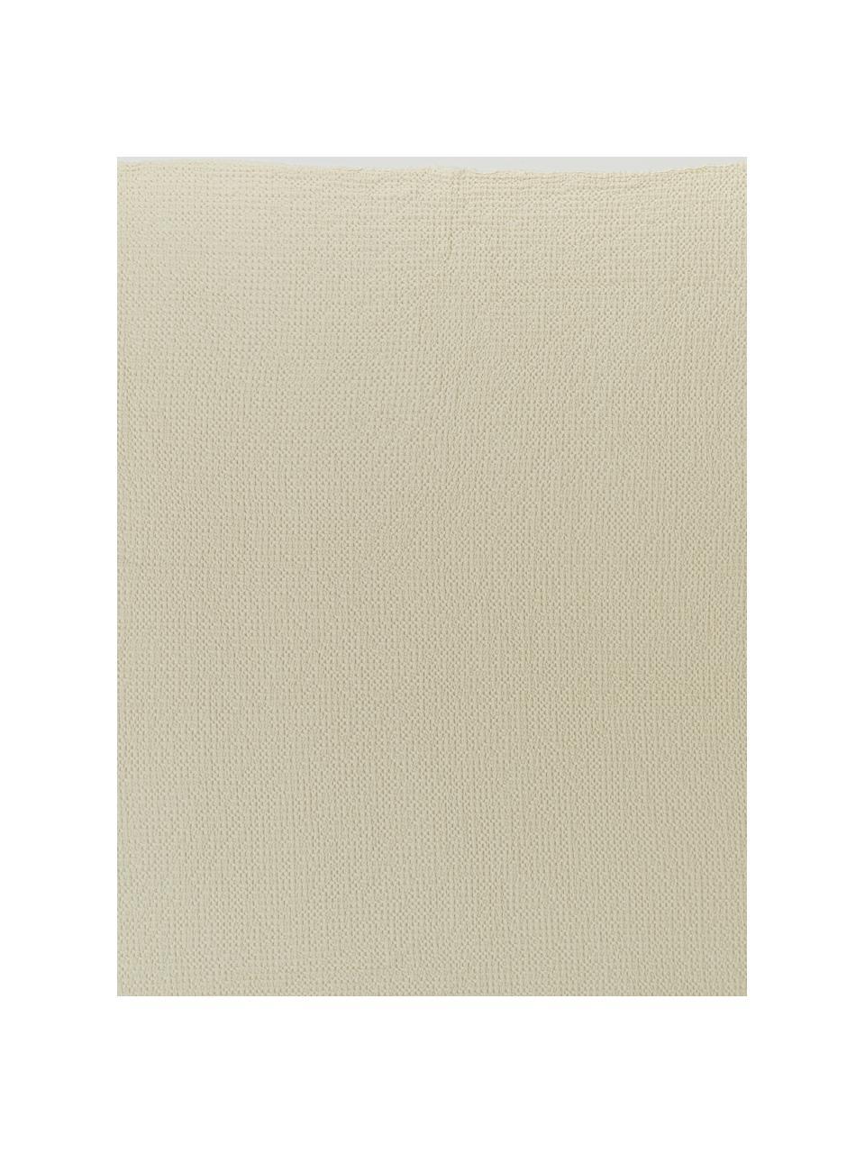 Couvre-lit coton blanc crème à surface texturée Vigo, Blanc