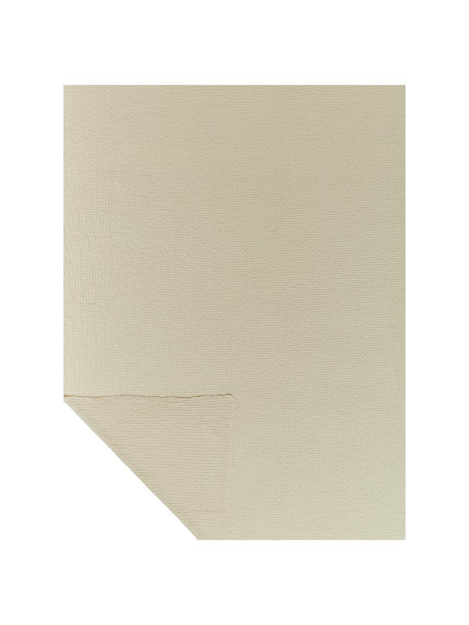Tagesdecke Vigo mit strukturierter Oberfläche, 100% Baumwolle, Creme, B 220 x L 240 cm (für Betten ab 160 x 200)