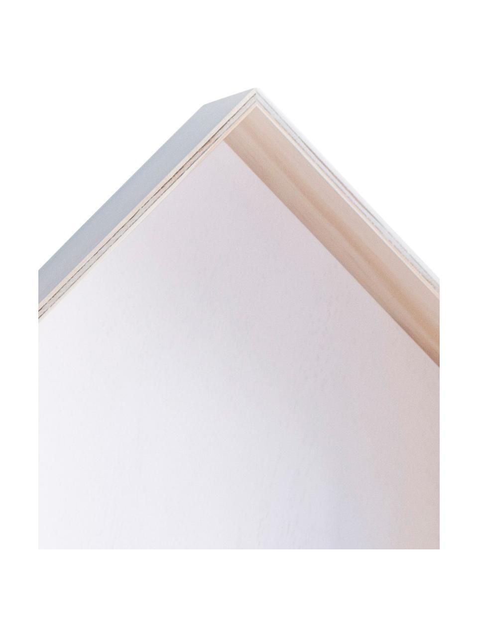 Komplet półek ściennych Blanca, 3 elem., Sklejka, Jasny brązowy, biały, Komplet z różnymi rozmiarami