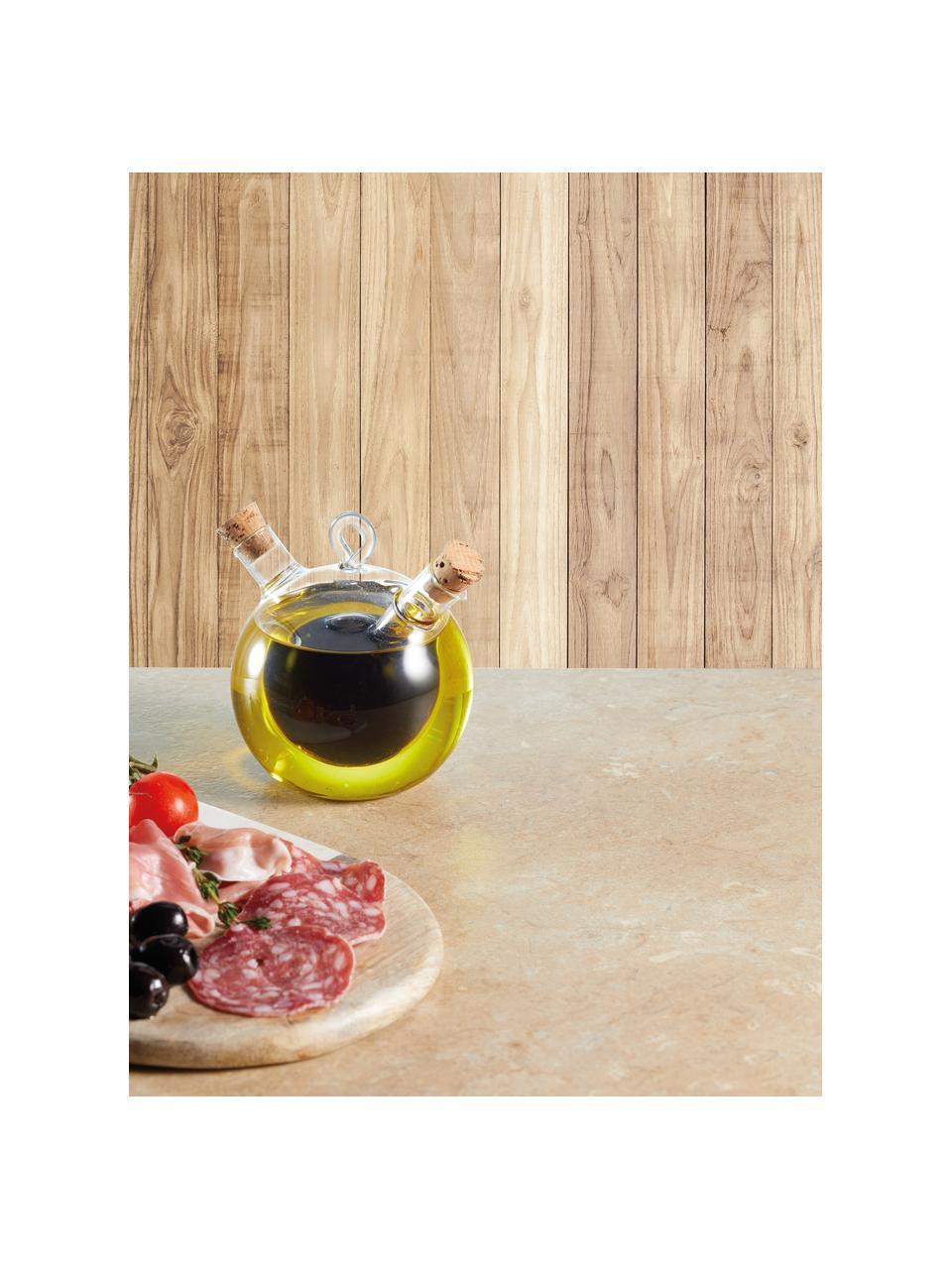 Essig- und Öl-Spender Ital, Verschluss: Kork, Transparent, Ø 9 x H 12 cm
