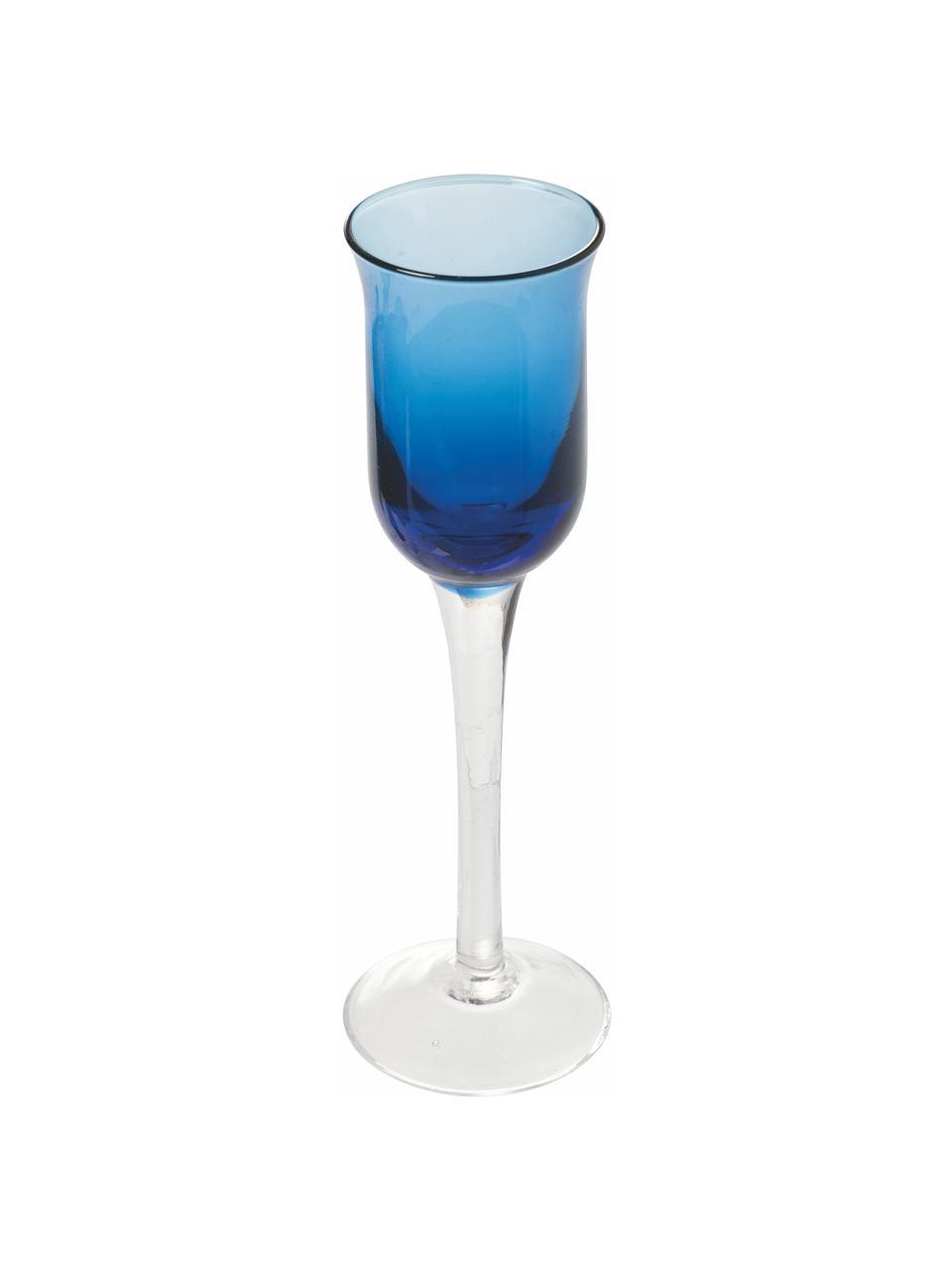 Likörgläser Chupos, 6er-Set, Glas, Blau, Transparent, Ø 5 x H 16 cm