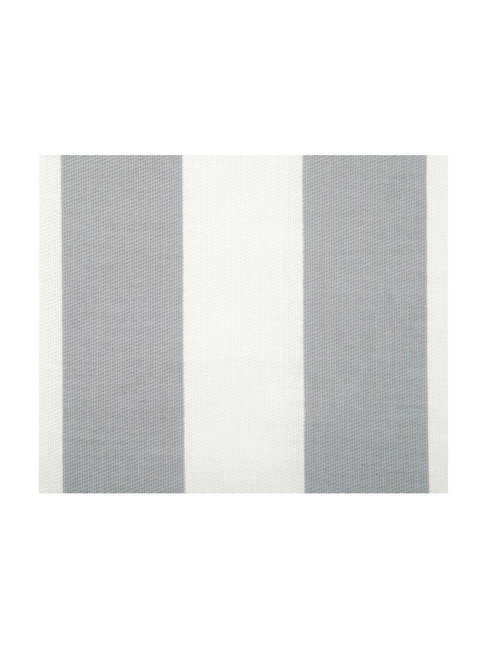 Gestreifte Kissenhülle Timon in Grau/Weiß, 100% Baumwolle, Hellgrau, Weiß, 30 x 50 cm