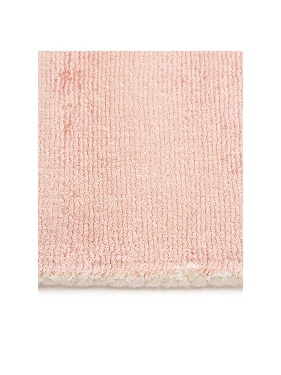 Handgewebter Viskoseteppich Alana mit Farbverlauf, 100% Viskose, Rosa, Beige, B 200 x L 300 cm (Größe L)