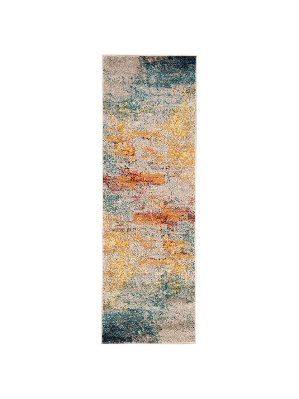 Passatoia di design colorato Celestial, Retro: juta, Multicolore, Larg. 70 x Lung. 230 cm