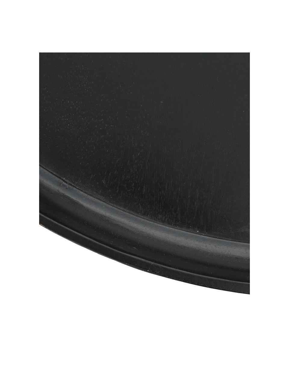Stolik kawowy z drewna mangowego Bowl Table, Blat: drewno mangowe, barwione, Nogi: stal malowana proszkowo, Czarny, Ø 75 x W 38 cm