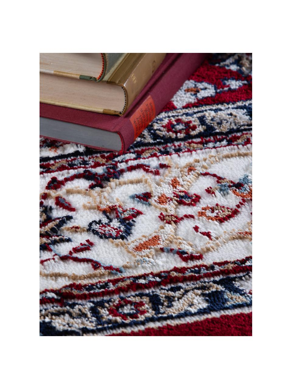Dywan w stylu orient Isfahan, 100% poliester, Ciemny czerwony, wielobarwny, S 80 x D 150 cm (Rozmiar XS)