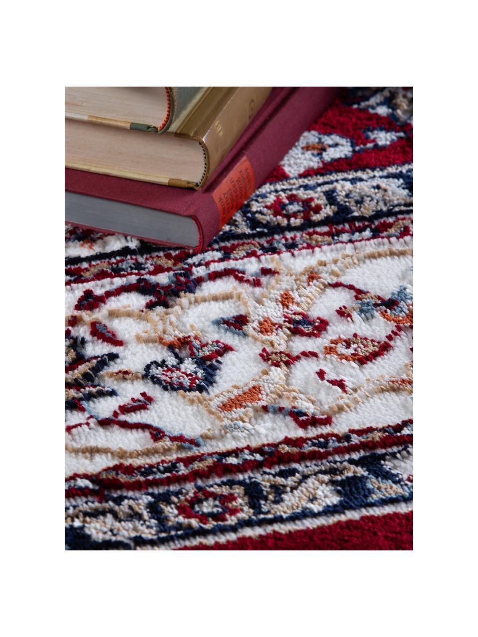 Tapis oriental pourpre Isfahan, Pourpre, multicolore