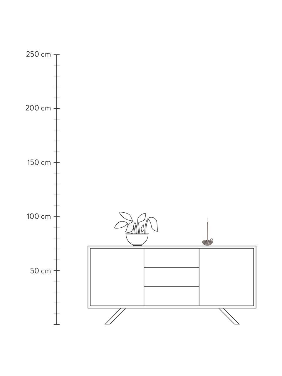 Lampada da tavolo a LED da esterno dimmerabile con funzione touch USB Wick, Base della lampada: alluminio riciclato e riv, Paralume: materiale sintetico, Grafite, Ø 12 x Alt. 26 cm