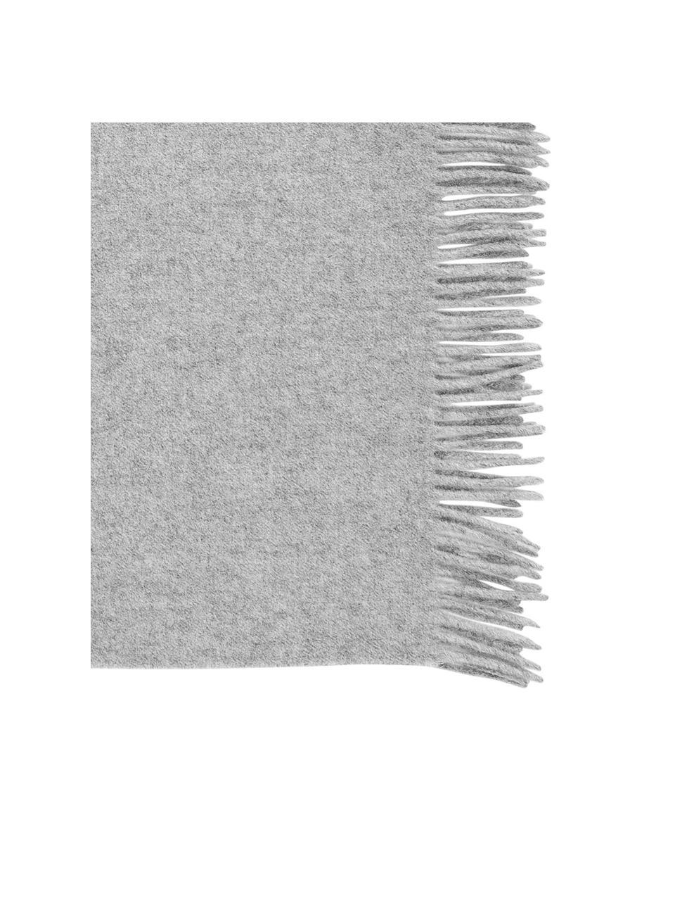 Koc z wełny Lena, 100% wełna, o szorstkiej powierzchni, Jasnoszary, S 130 x D 170 cm