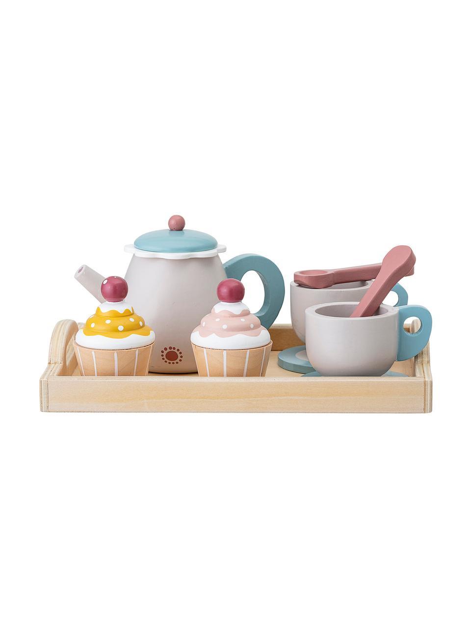 Spiel-Set Coffee Time, 13-tlg., Schichtholz, Lotusholz, Mehrfarbig, 21 x 10 cm
