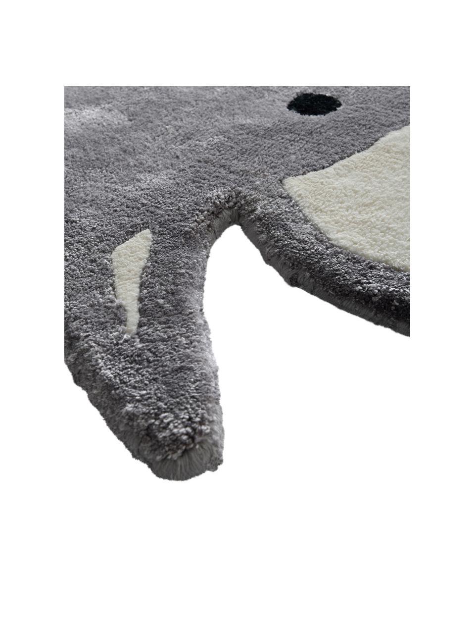 Viskózový koberec Ellie Elephant, Šedá, černá, bílá