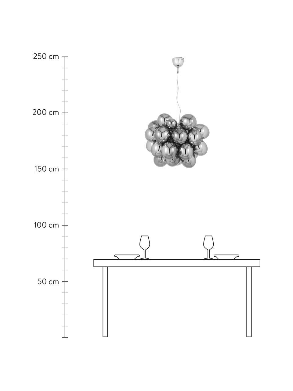 Suspension design grappe à sphères multiples en verre chromé Gross Grande, Chrome