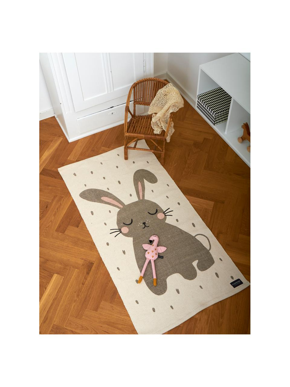 Koberec Rabbit, Šedo-bílá