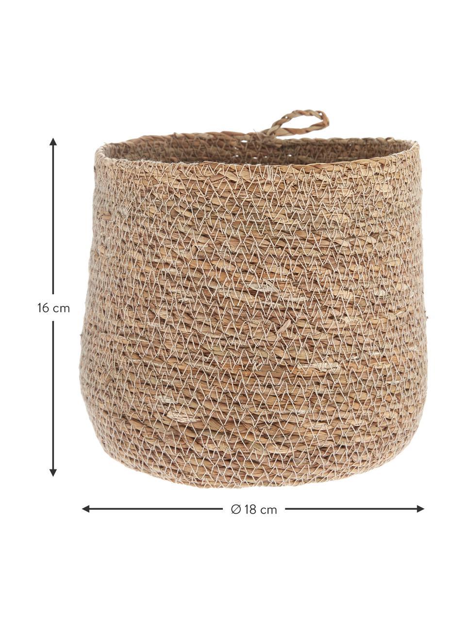 Aufbewahrungskorb Hang aus Seegras, Seegras, Seegras, Ø 18 x H 16 cm
