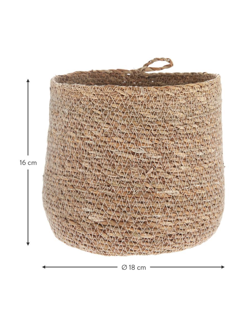 Cesto in fibra naturale Hang, Fibra naturale, Fibra naturale, Ø 18 x Alt. 16 cm