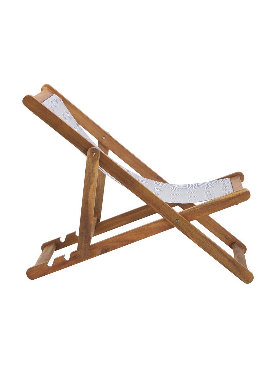 Sedia a sdraio pieghevole Zoe, Struttura: legno di acacia massiccio, Grigio, Larg. 59 x Prof. 84 cm