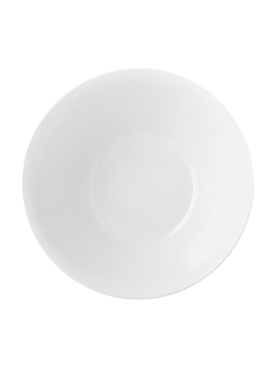 Handgemaakte kom Esrum mat/glanzend, Ø 25 cm, Bovenzijde: glad geglazuurd keramiek, Onderzijde: natuurlijk keramiek, Ivoorkleurig, grijsbruin, Ø 25 x H 11 cm
