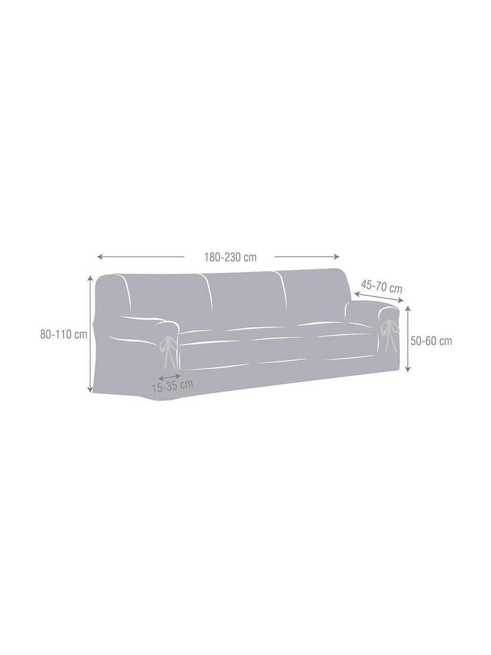 Pokrowiec na sofę Bianca, 100% bawełna, Odcienie kremowego, S 200 x W 110 cm