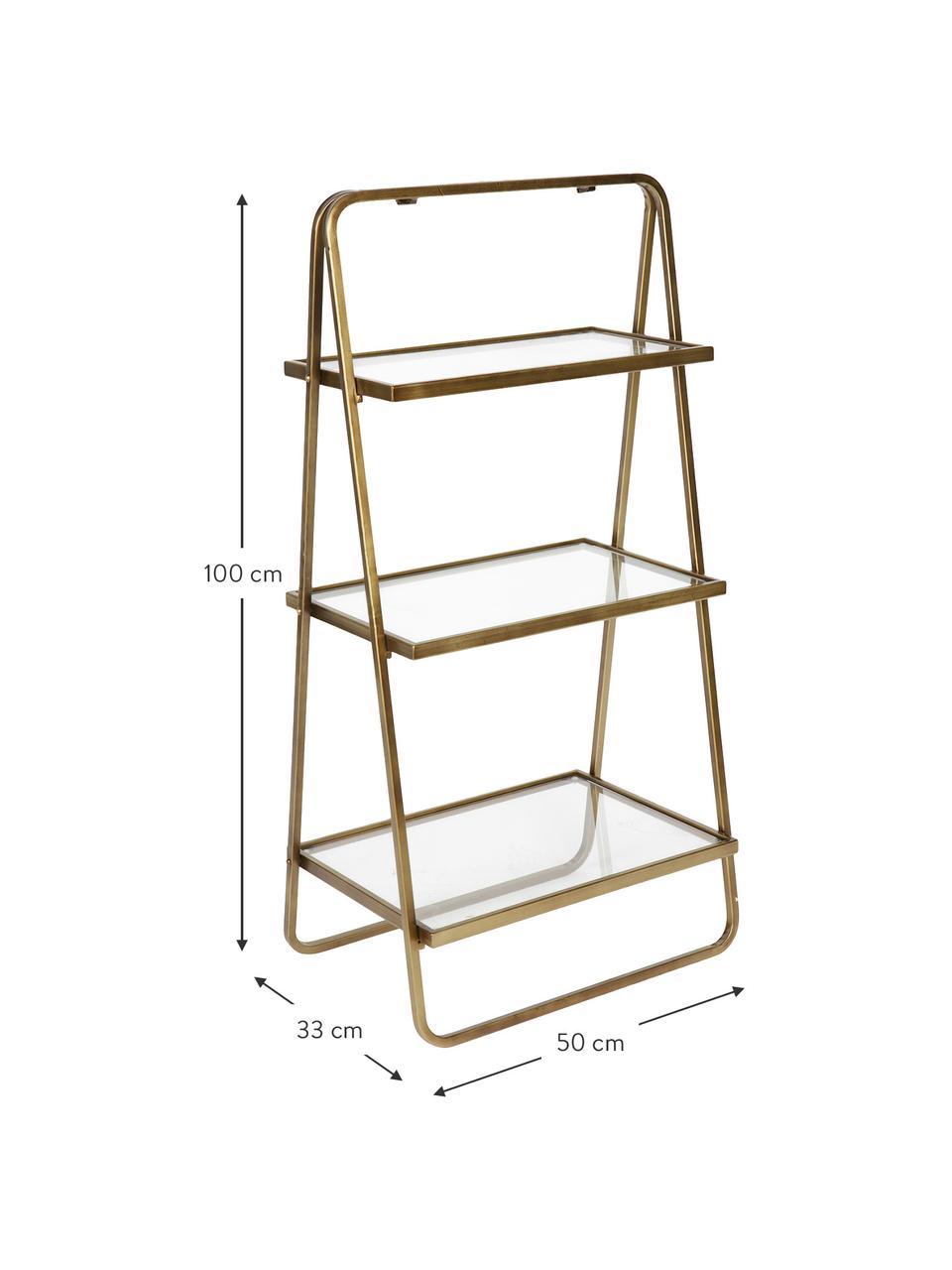 Ladder-wandrek Goddess in antieke afwerking, Frame: vermessingd metaal, Messingkleurig met antieke afwerking, 50 x 100 cm