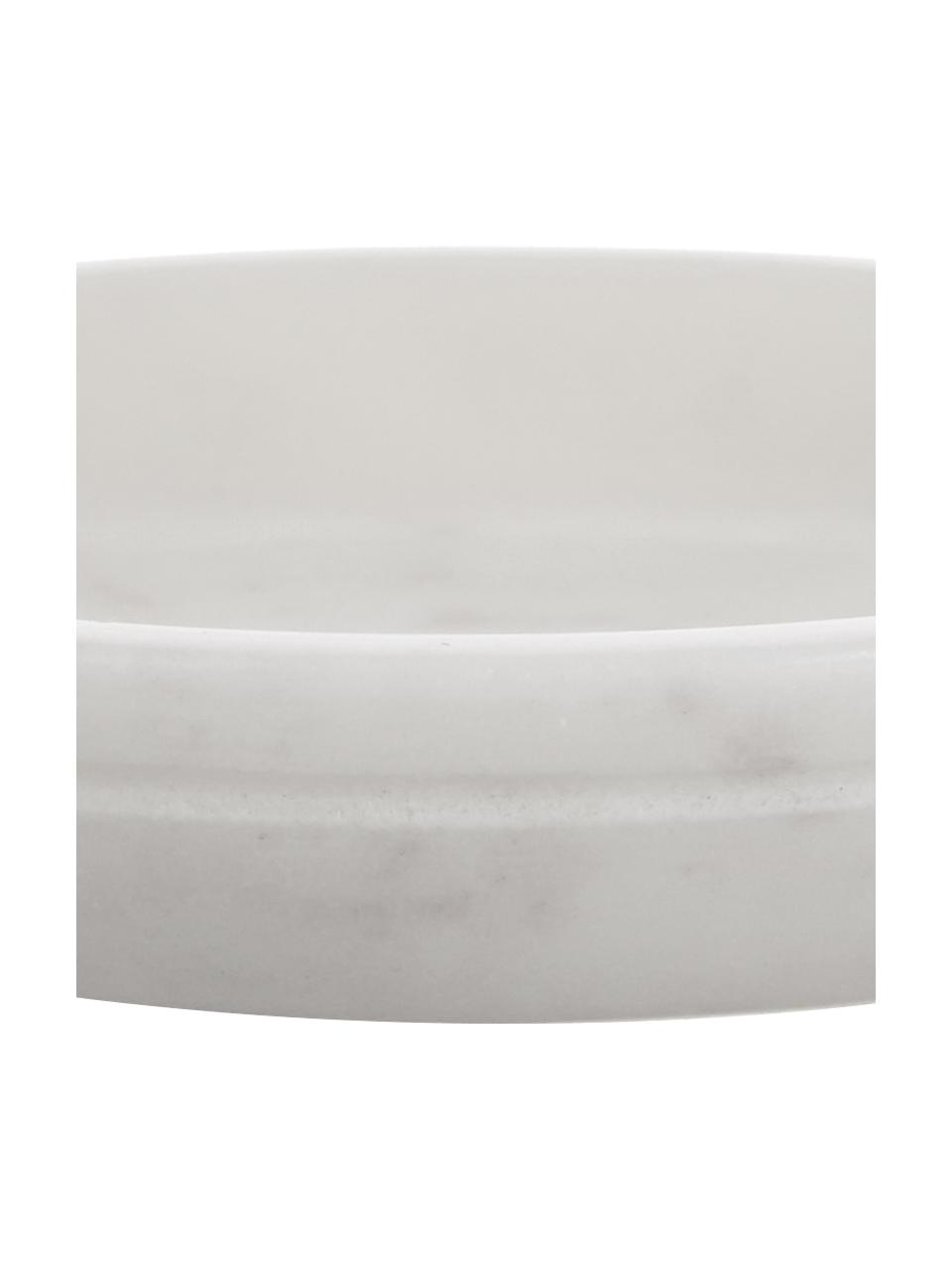 Marmor-Seifenschale Lorka, Marmor, Weiß, Ø 10 x H 2 cm