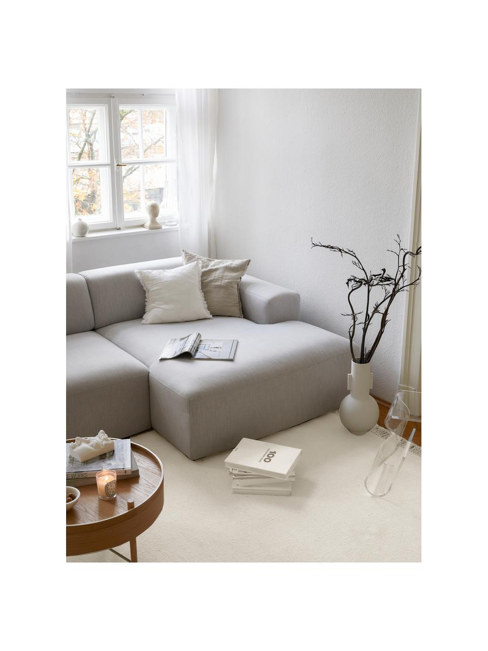 Tappeto in lana tessuto a mano con frange Rainbow, Frange: 100% cotone, Bianco naturale, Larg. 140 x Lung. 200 cm (taglia S)