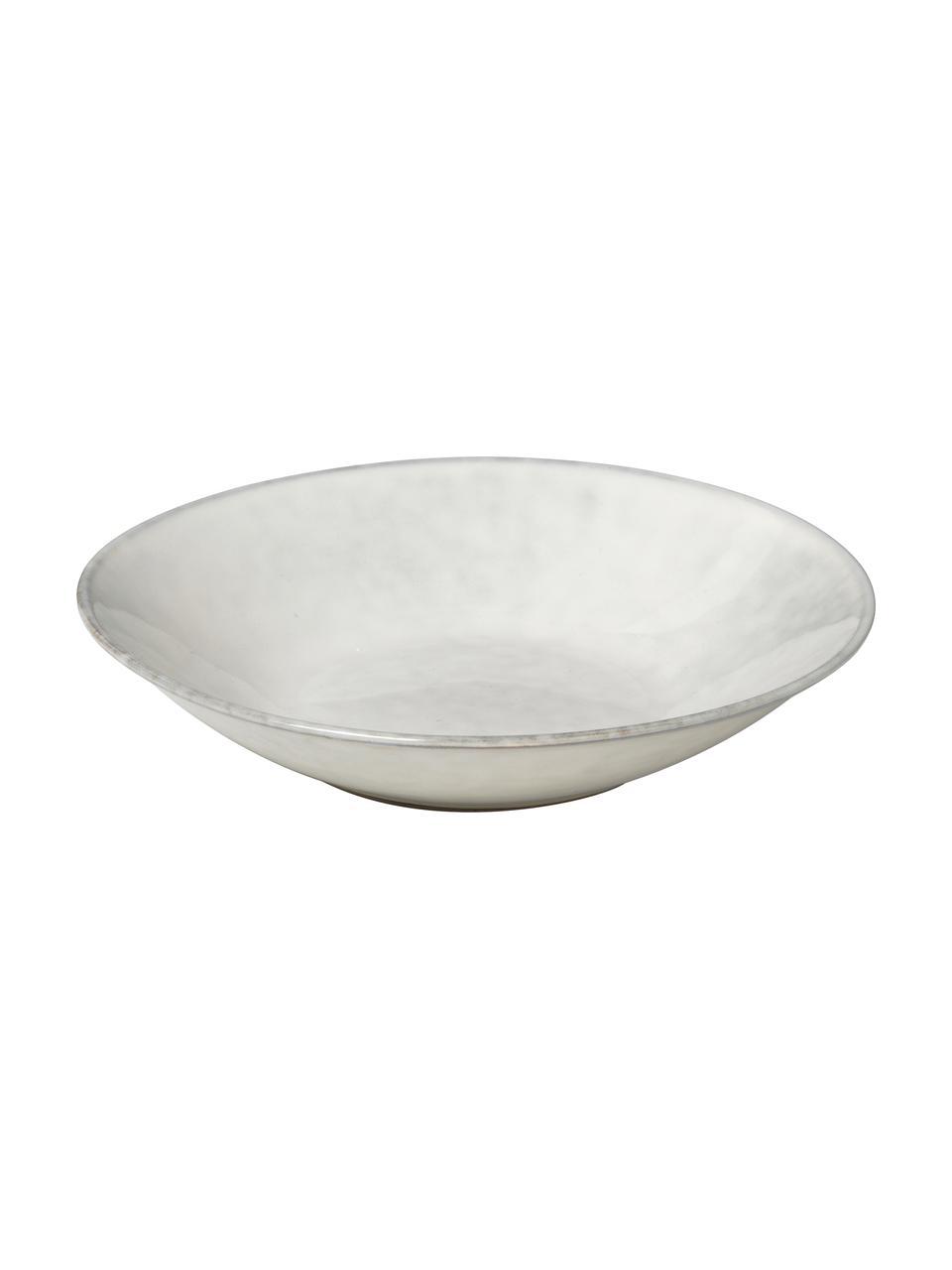 Assiette creuse faite à la main Nordic Sand, 4pièces, Gris/beige