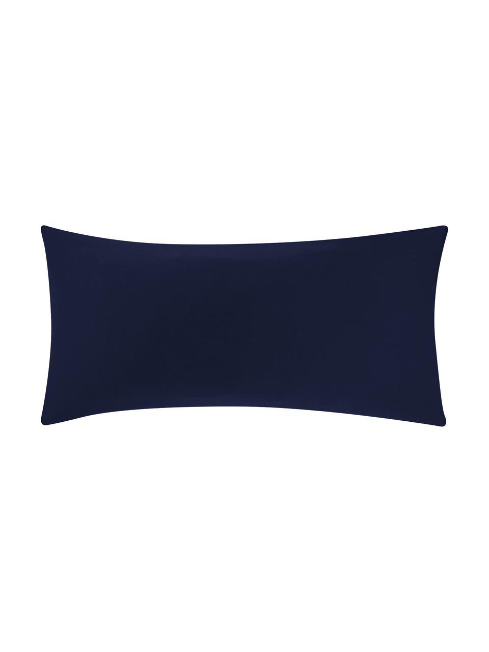 Baumwollsatin-Kopfkissenbezüge Comfort in Dunkelblau, 2 Stück, Webart: Satin Fadendichte 250 TC,, Dunkelblau, 40 x 80 cm