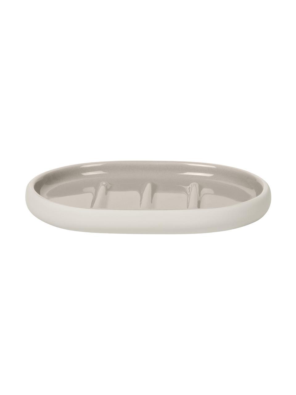 Seifenschale Sono aus Keramik, Keramik, Beige, 13 x 2 cm