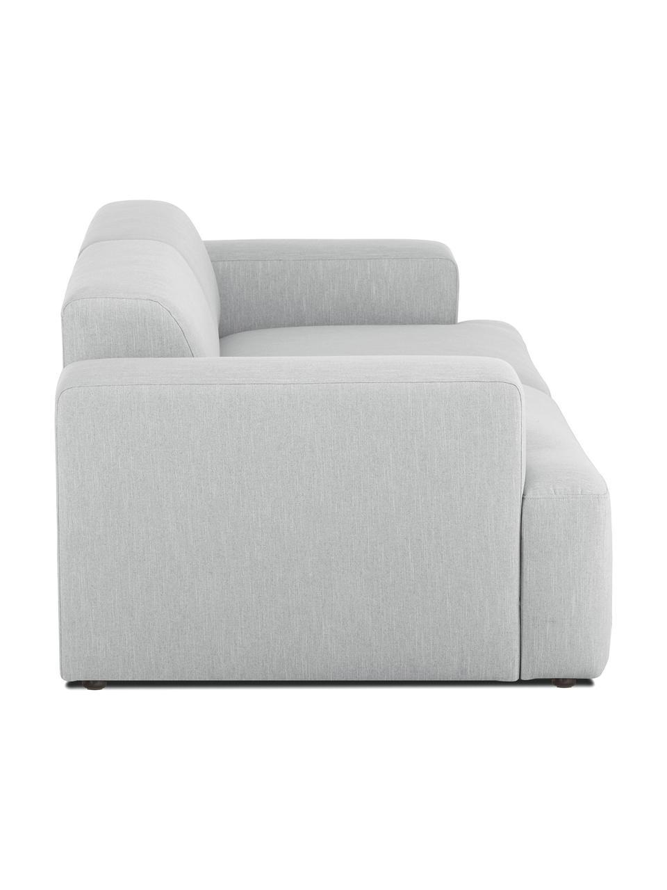 Canapé 3places gris clair Melva, Tissu gris clair