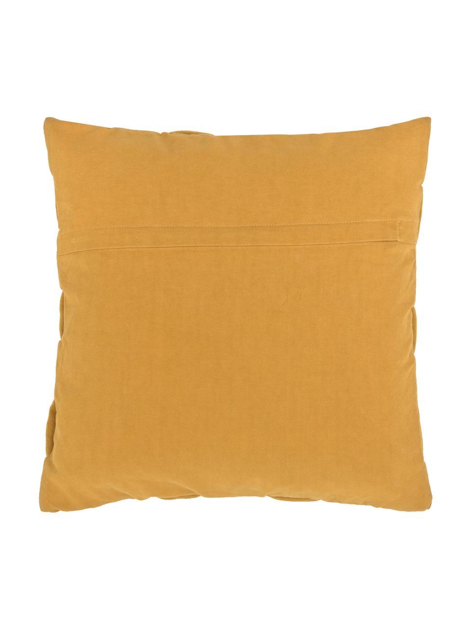 Federa arredo intrecciata Norman, Giallo senape, Larg. 40 x Lung. 40 cm