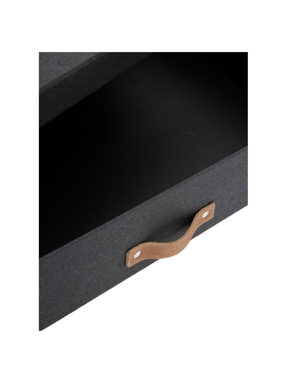 Pudełko do przechowywania Sverker II, Pudełko na zewnątrz: czarny Pudełko wewnątrz: czarny Uchwyt: beżowy, S 44 x W 9 cm