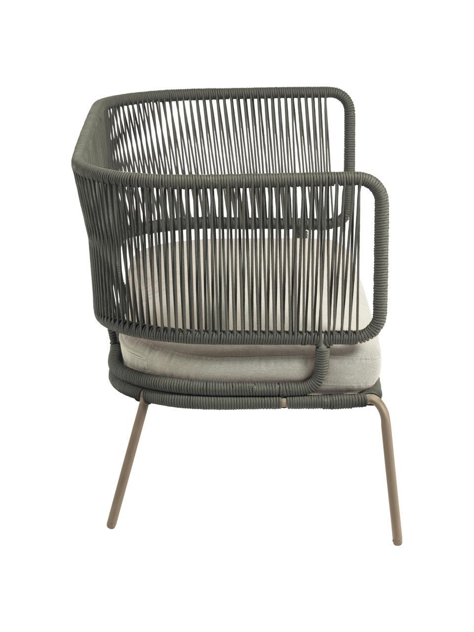 Sofa ogrodowa Nadin (2-osobowa), Stelaż: metal ocynkowany i lakier, Tapicerka: poliester, Zielony, S 135 x G 65 cm