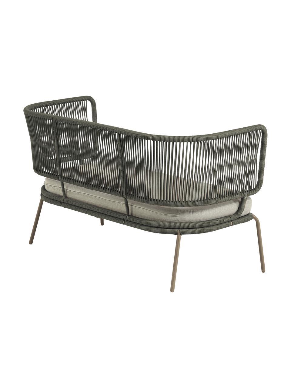 Tuin loungebank Nadin (2-zits), Frame: verzinkt metaal en gelakt, Bekleding: polyester, Groen, 135 x 65 cm