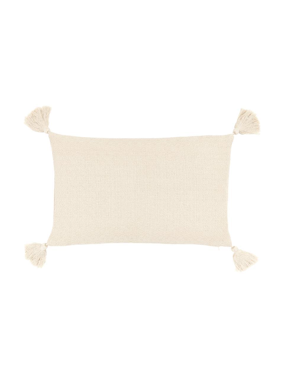 Poszewka na poduszkę z chwostami Lori, 100% bawełna, Beżowy, S 30 x D 50 cm