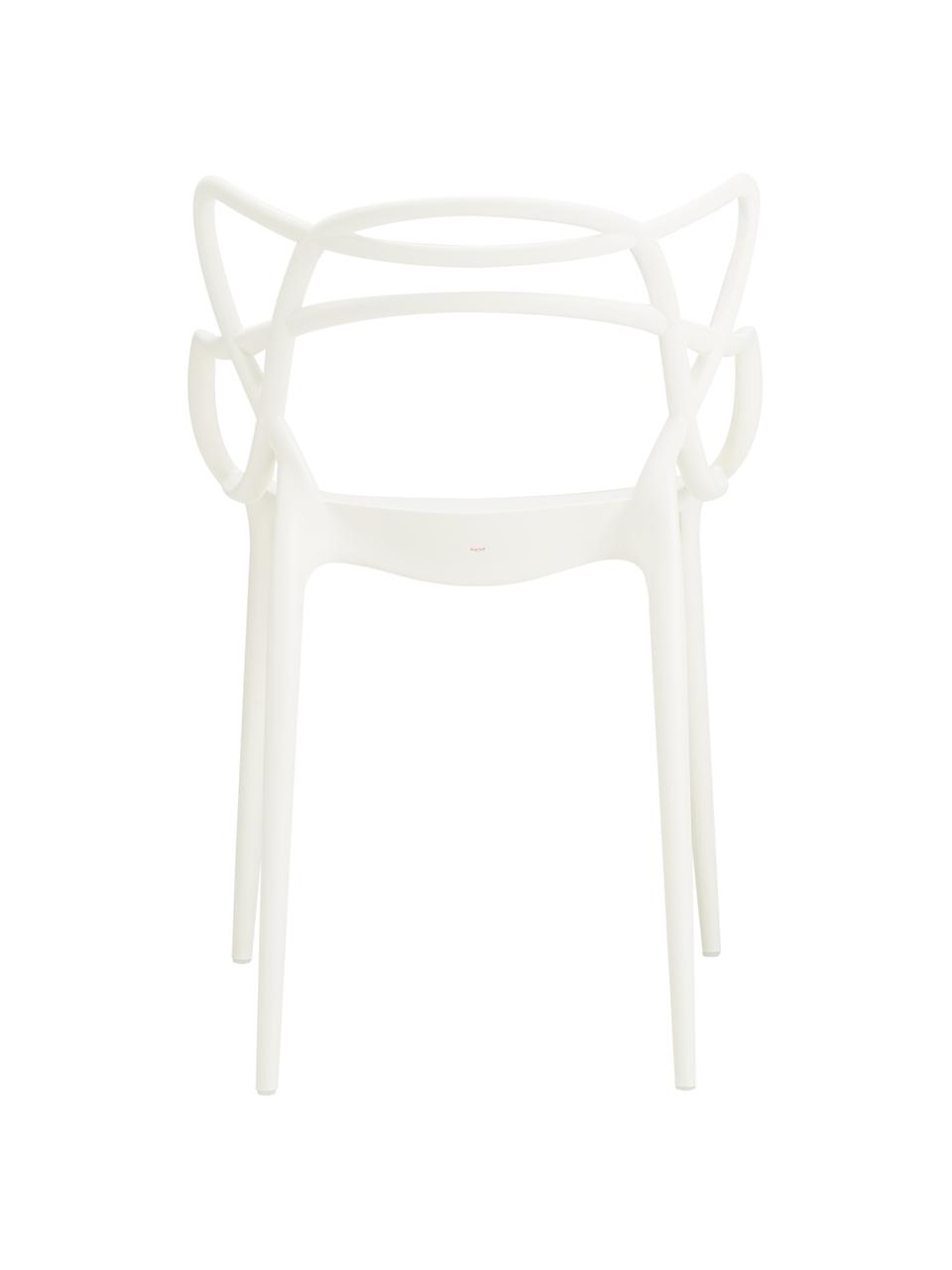 Stapelbare Armlehnstühle Masters, 2 Stück, Polypropylen, Weiß, 57 x 84 cm