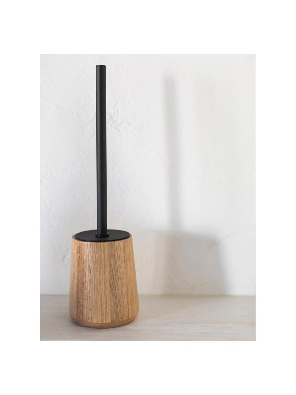 Szczotka toaletowa Battersea, Drewno dębowe, czarny, Ø 11 cm