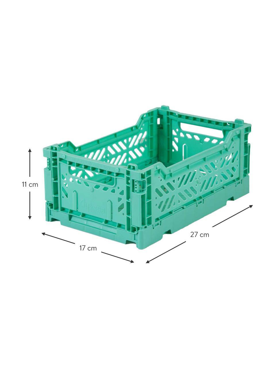 Petite caisse pliable Mint, empilable, Vert menthe