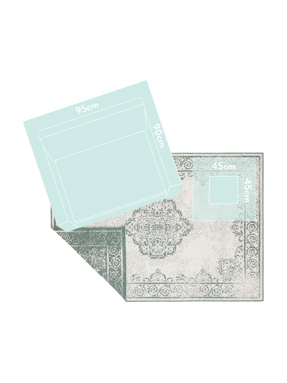 Tappeto vintage da interno-esterno Cebu, Polipropilene, Verde, crema, Larg.160 x Lung. 230 cm (taglia M)