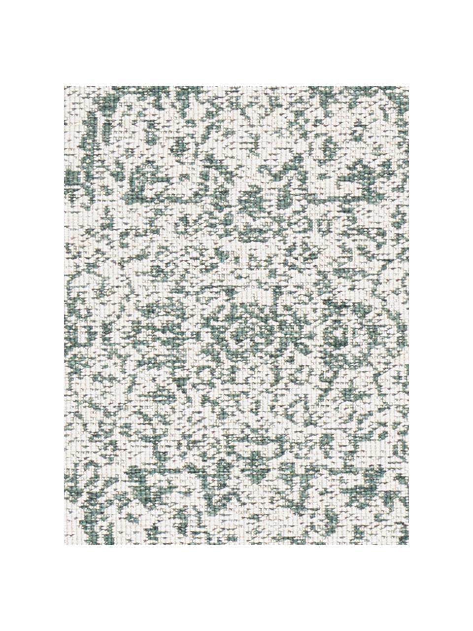 In- & Outdoor-Wendeteppich Cebu im Vintage Look, Grün/Creme, 100% Polypropylen, Grün, Creme, B 160 x L 230 cm (Größe M)